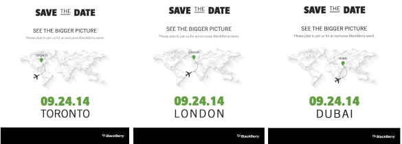 An invite for an exclusive BlackBerry event. See the bigger picture 09.24.14